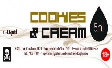 C-Liquid Cookies and Cream 5ml